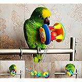 ECOOLBUY 3er-Pack. Kauspielzeug für Papageien, Nymphen- und Wellensittiche. Ball und Schaukel