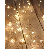 Litogo Guirnalda Luces Pilas, Luces LED Pilas, Luces LED Habitacion 5m 50 LED Luces de Cadena Micro con Pilas de Alambre Guirnaldas Decoracion Cobre para Decoración Interior Bodas Fiesta de Navidad …