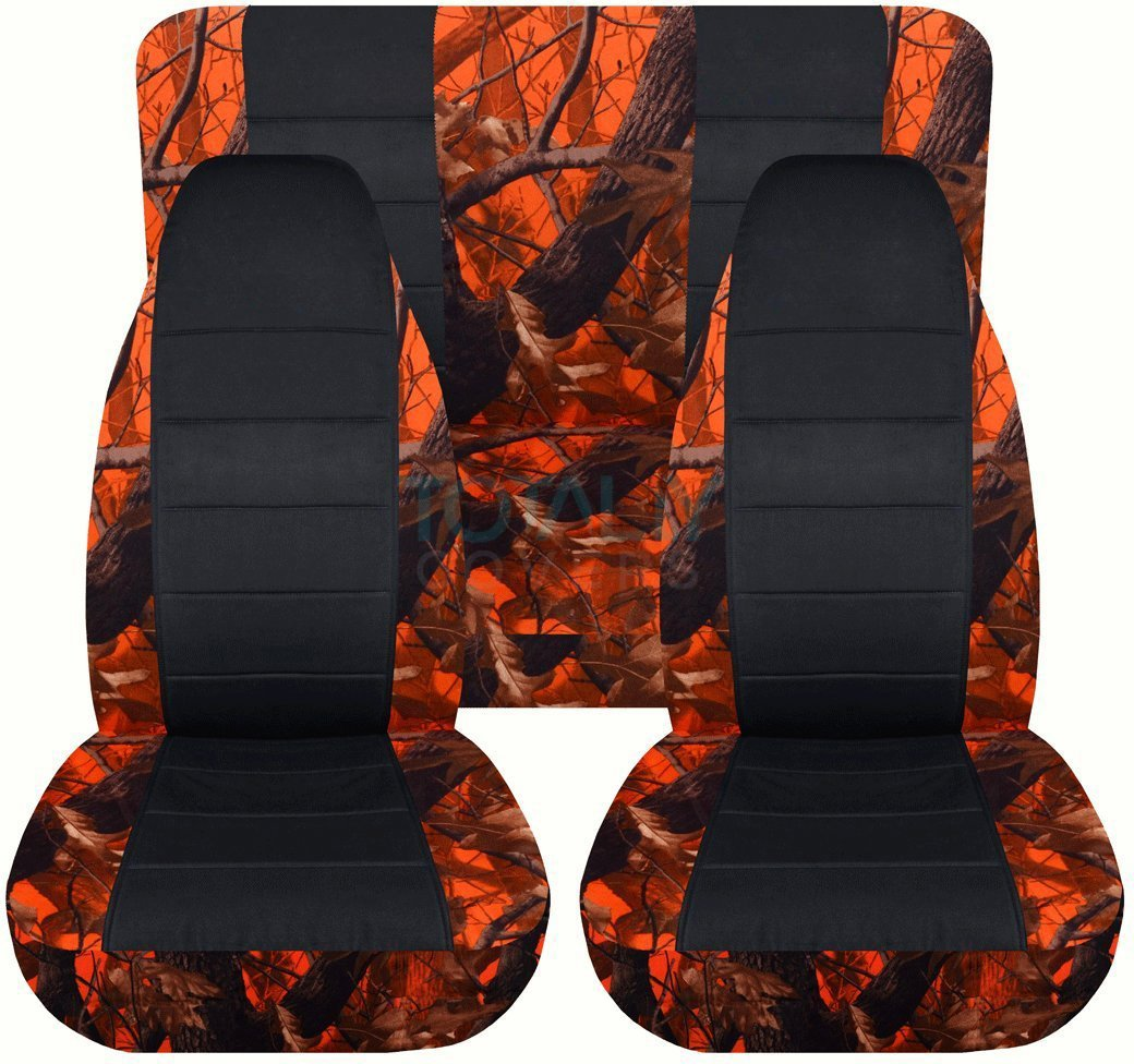 19 Prints Full Set: Front /& Rear 1988 1989 1990 1991 1992 1993 1994 2-Door Complete Back Bench Totally Covers Fits 1987-1995 Jeep Wrangler YJ Camo /& Black Seat Covers: Brown /& Green Camouflage
