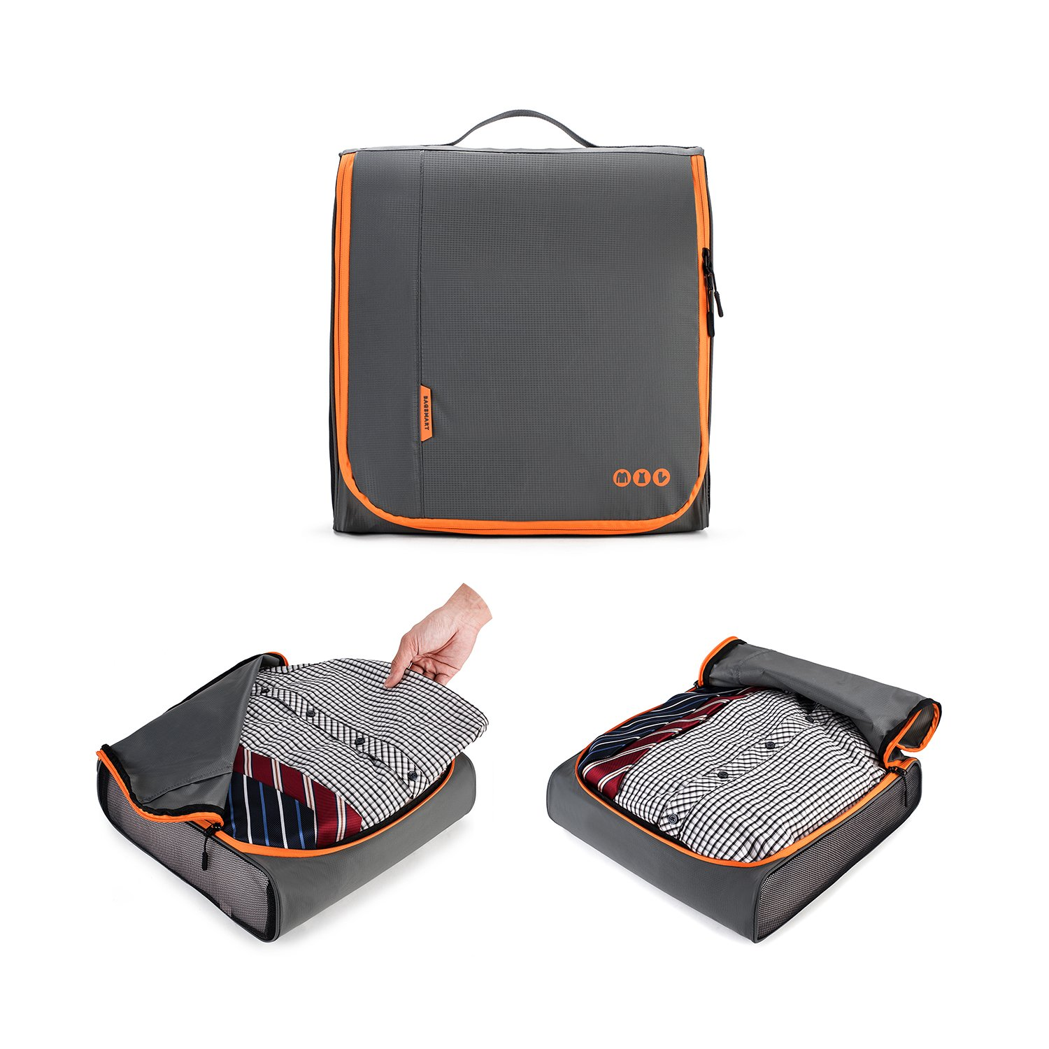 BAGSMART 6 Sets Packing Cubes 3 Sizes Portable Travel Luggage Organizer for Carry-on Accessories by BAGSMART (Image #4)