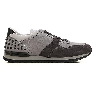 Tod s Sneaker camoscio e Tessuto Bicolore Grigio Uomo  Amazon.fr ... 0949a205a30
