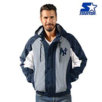 Amazon.com: STARTER New York Yankees Heavy Hitter - Chaqueta ...