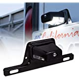 LED License Plate Light for Trailer [Bracket Mount] [DOT FMVSS 108] [SAE L] [Black-Finish] [Waterproof] [12V DC] License…