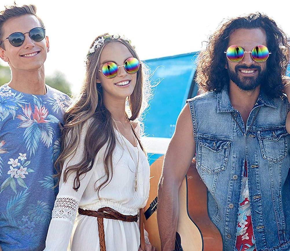 Bweele Gafas Redondas de Hippie, Gafas de Sol Redondas Gafas de ...