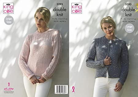 d4baf1da60c8ec King Cole 5293 Knitting Pattern Womens Cardigan and Sweater in Galaxy DK