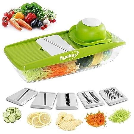 Syolee Mandolin Vegetable Slicer 9 In 1 Multi Function Slicer