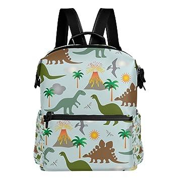 TIZORAX Dinosaurios y Volcanes Mochila Escolar Colegio Bolsas de Días Bolsas de Libros para Adolescentes niños niñas: Amazon.es: Deportes y aire libre
