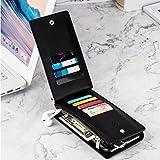 iPhone X case(Black)Leather Zipper Wallet Case
