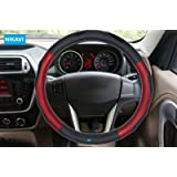 NIKAVI Spring Steering Wheel Cover for All Cars - 15 inch (Approx) (MEROON)