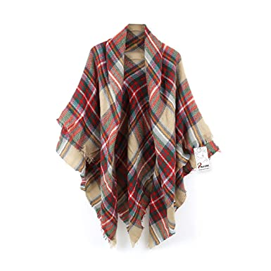 ec24c2fc2 Women's Cozy Tartan Scarf Wrap Shawl Neck Stole Warm Plaid Checked Pashmina