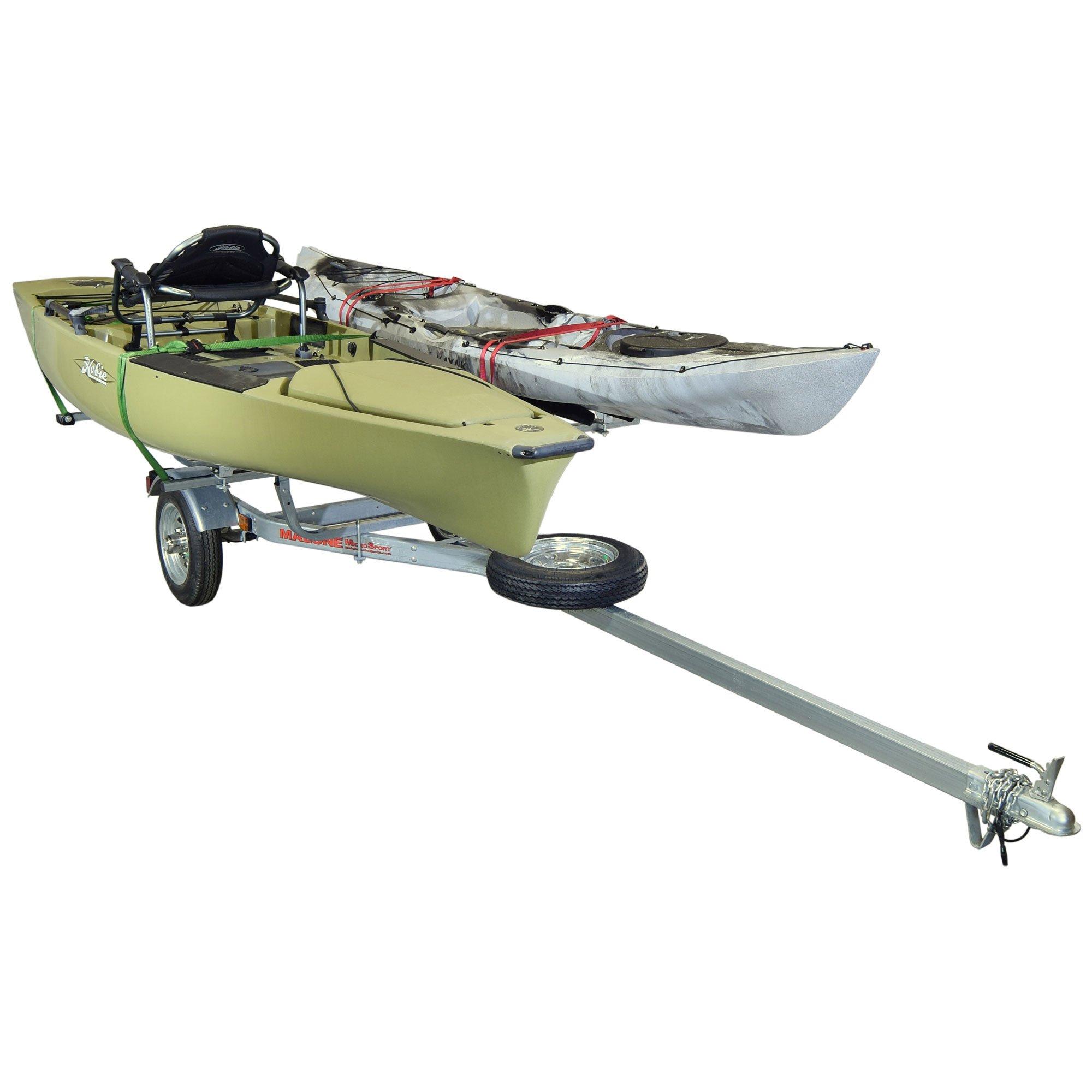 Malone MicroSport 2 Kayak Bunk-Style Trailer Package