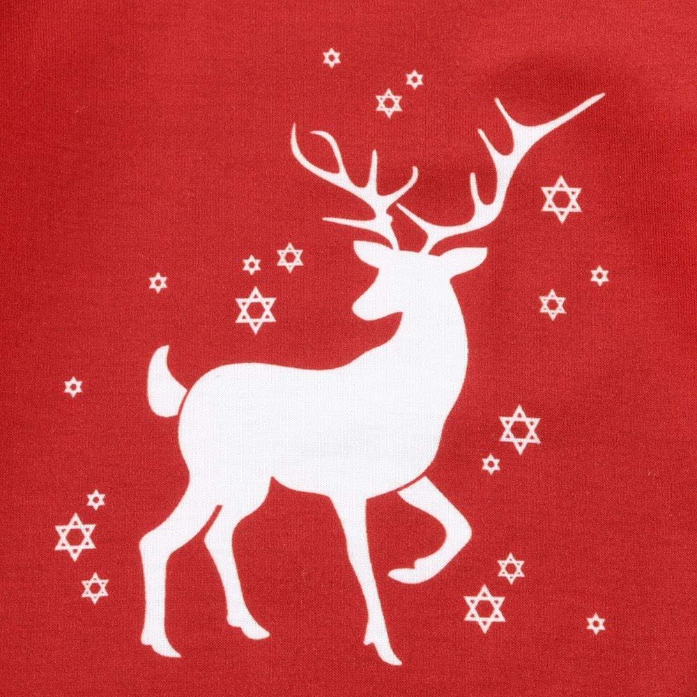 Xmas Holiday Pjs Set,Moose Elk Pattern Kehen Family Christmas Pajamas Set Soft Cotton Family Pajamas