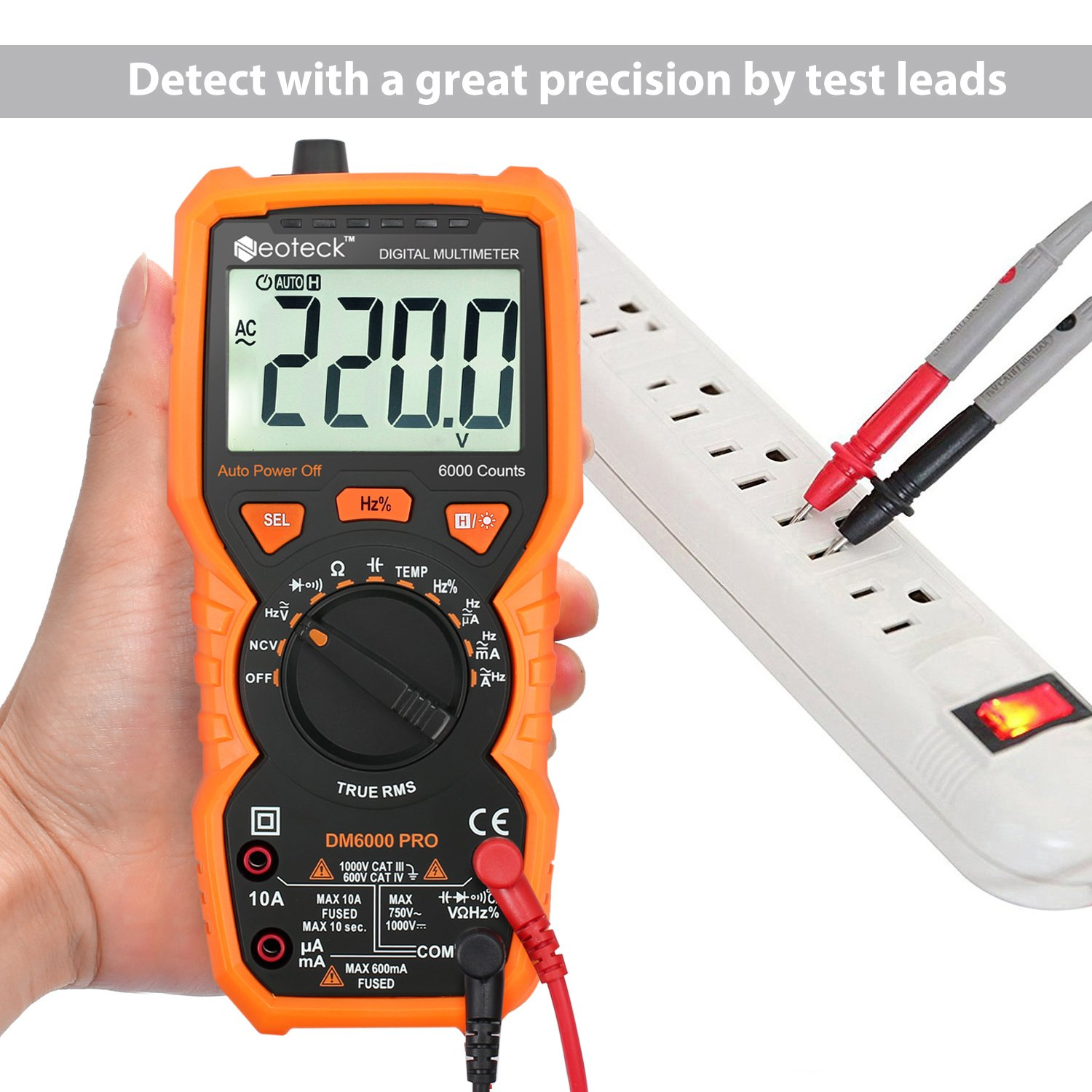 Neoteck Digital Multimeter PM18 AC DC Voltage Current Resistance