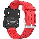 MoKo Sport Armband für Garmin Vivoactive / Vivoactive Acetate - Silikon Ersatz-Uhrenarmband Uhrenarmband Einstellbar Armband Replacement Wechselarmband watch band für Garmin Vivoactive / Vivoactive Acetate Sports GPS-Smartwatch, Rot