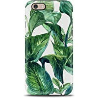 Fiori Floreale Foglie Tropicale cover case custodia per iPhone 5, 5s, SE, 6, 6s, 7, 7 plus, 8, 8 plus, X, XS, per Galaxy S6, S7, S8