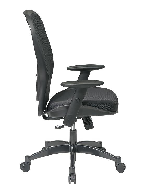 Espacio Asiento de Malla Transpirable Negro Espalda y Asiento de Malla Acolchada, Gunmetal, Padded Mesh Seat: Amazon.es: Hogar
