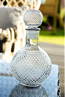 Cognac Glasflasche Weinkaraffe Dekantierer Liköre Whisky 1,5l mit Glaskork