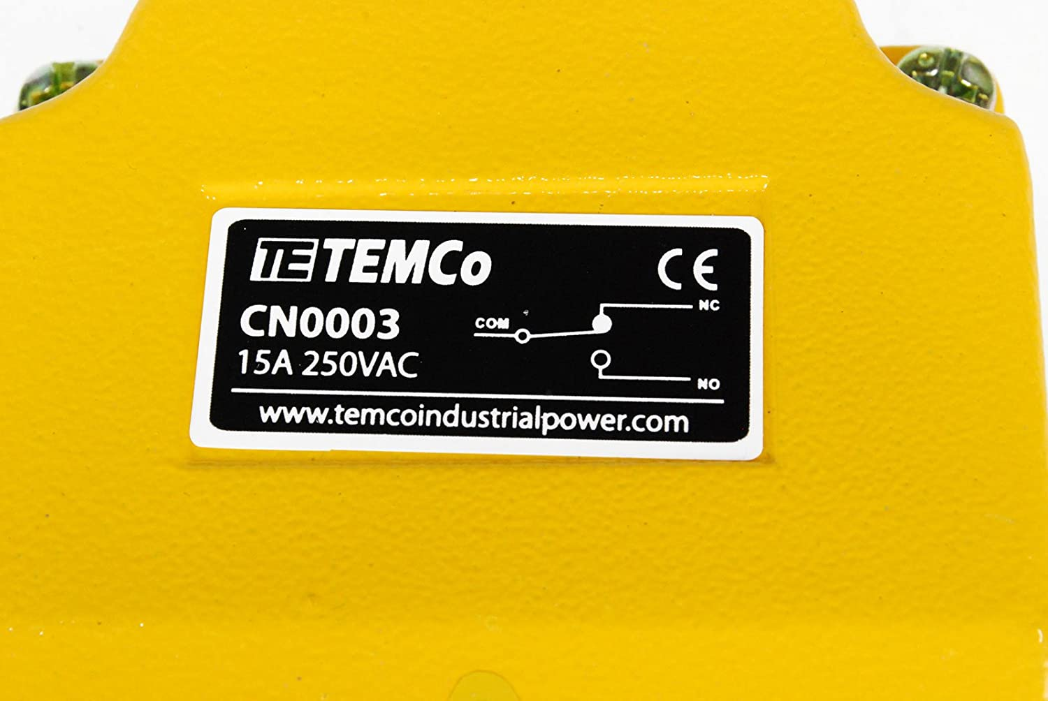 TEMCo Heavy Duty Foot Switch CN0003 Cast Aluminum Foot Switch 15A SPDT Electric Pedal Momentary 5 Year Warranty