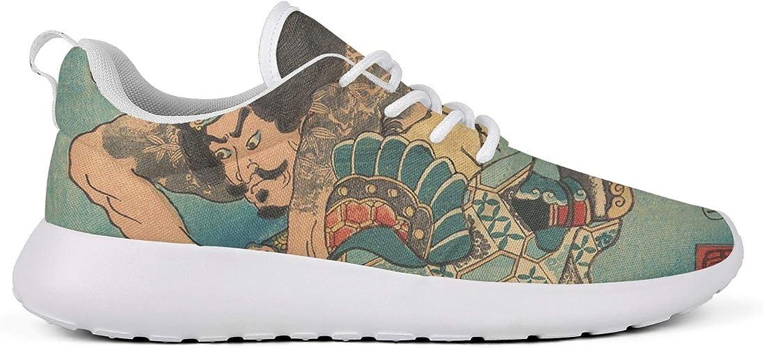 Anigarey Ukiyo - Zapatillas de Running para Hombre, Ligeras, Transpirables, japonesas, cómodas y de Malla, (Japanese Ukiyo Art-28), 42.5 EU: Amazon.es: Zapatos y complementos