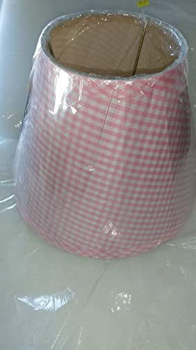 Small pink gingham lampshade 7 12 tall 9 12 diameter bottom 5 small pink gingham lampshade 7 12quot tall 9 1 aloadofball Images