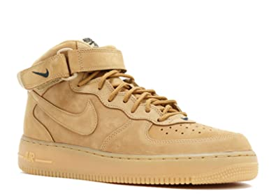 Nike Mens Air Force 1 Mid '07 PRM QS Flax/Outdoor Green Synthetic Basketball