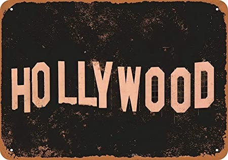 Hollywood Póster De Pared Metal Retro Placa Cartel Cartel De ...