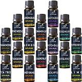 ArtNaturals Aromatherapy Top-16 Essential Oil Set - 100% Pure of the Highest Therapeutic Grade Quality - Premium Gift Set – Lavender, Peppermint, Tea Tree, Eucalyptus - (16 x 10ml Bottles)