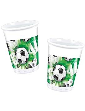 COOLMP - Juego de 12 Vasos de plástico Goal de fútbol, Talla ...