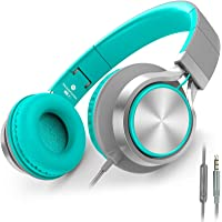 AILIHEN C8 Wired Headphones with Microphone and Volume Control Folding Lightweight Headset for Cellphones Tablets…