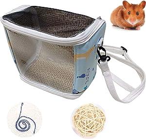 YOO BEPPY Hamster Hedgehog Carrier Bag Portable Breathable Travel Outgoing Bag Small Pets Guinea Pig Sugar Glider Squirrel Bird Lizard
