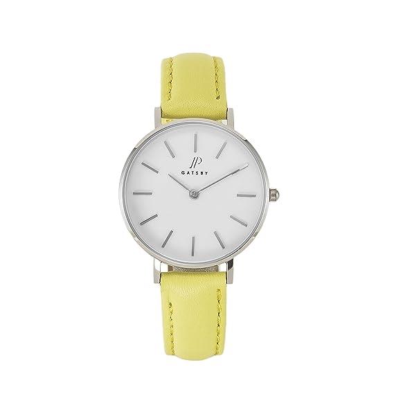 JP Gatsby JPG5055 - Reloj analógico de Cuarzo para Mujer, Piel auténtica, Resistente al Agua, diseño Moderno, Color Negro: Amazon.es: Relojes