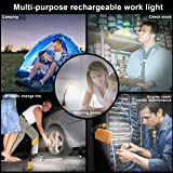 Magnetic Work Light USB Rechargeable Portable light Bright LED Worklight with magnetic Tail Stand,flood light and spot light for DIY, Workshop,Warehouse Garage Repair,Shop
