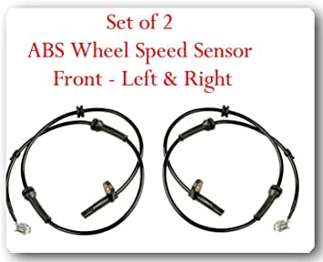Set of 2 Front Left and Right ABS Wheel Speed Sensors for Infiniti FX35 FX45 2003-2008
