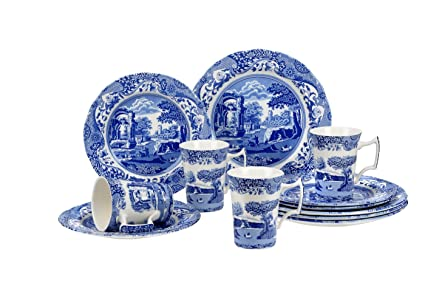 Spode Blue Italian 12 Piece Set  sc 1 st  Amazon.com & Amazon.com | Spode Blue Italian 12 Piece Set: Dinnerware Sets ...