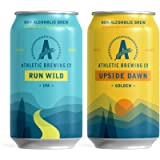 Athletic Brewing Company Non-Alcoholic Beer - Run Wild and Upside Dawn Mixed Case, Craft NA, Low-Calorie, Award Winning…
