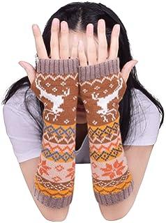 b50b9f00e6660d Wooly Bugged Damen Lange Fingerlose Handschuhe Wolle Stricken Armwärmer