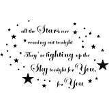 Wall art sticker vinyl quote take that lyrics stars are coming out tonight! 80x50CM