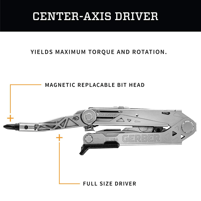 Gerber Center-Drive Plus Multi-Tool | Bit Set, Premium Leather Sheath [30-001417] by Gerber (Image #2)