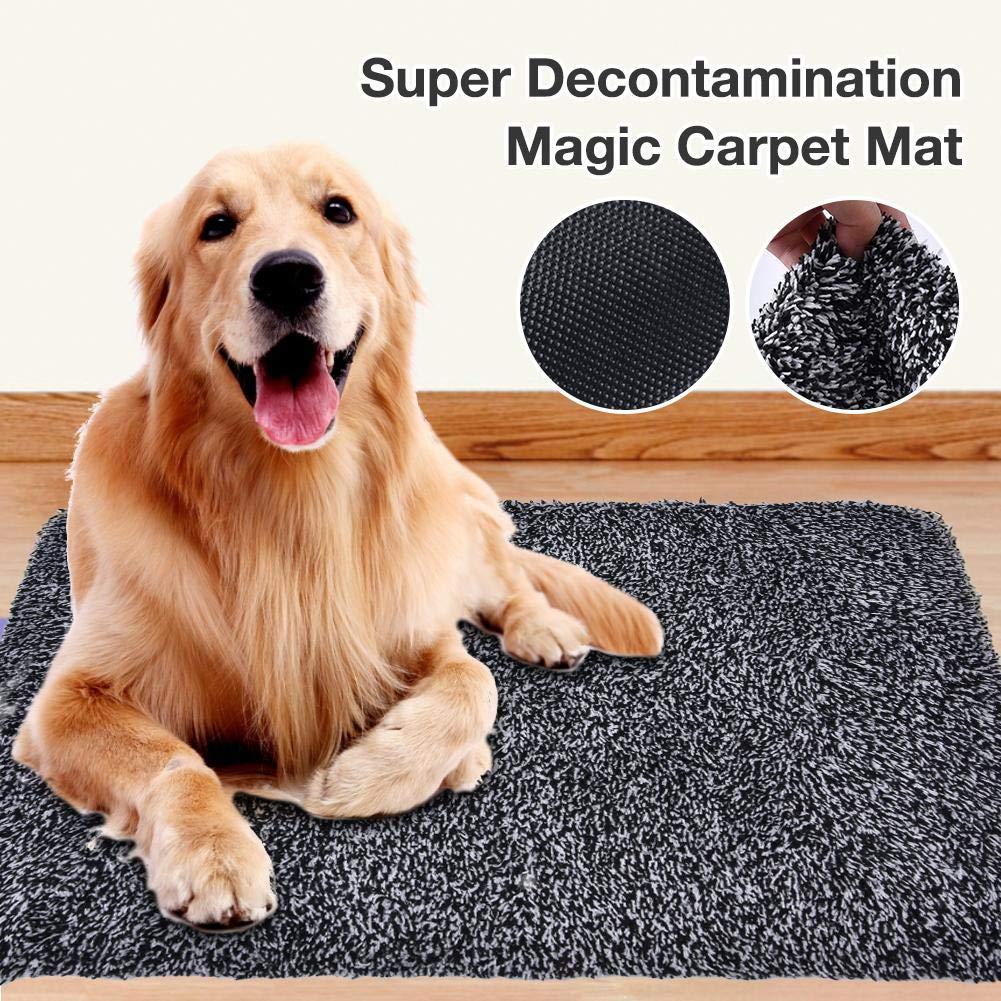 Alfombra de descontaminaci/ón s/úper Absorbente Duradero Antideslizante Lavable a m/áquina Gris Findema Alfombra Magic Carpet Adaptable