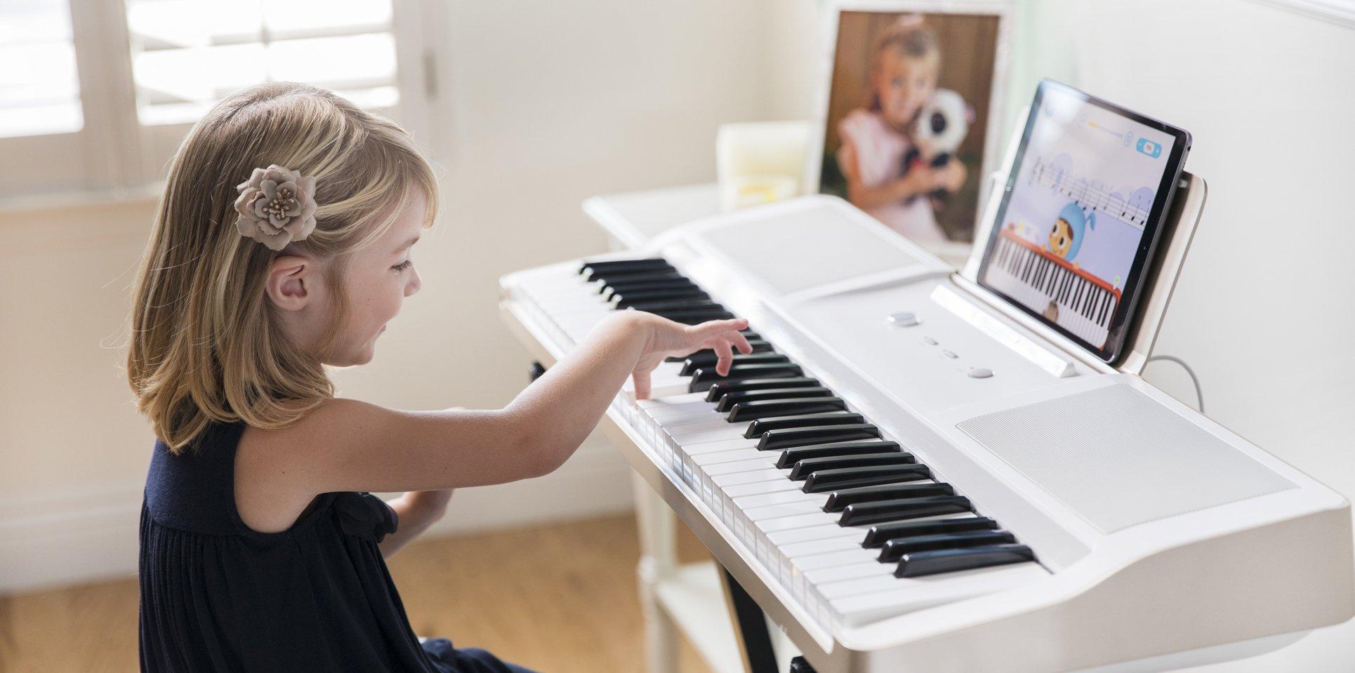 The ONE Smart Piano 61-Key Portable Light Keyboard, USB MIDI Electronic Keyboard Piano - Onyx Black by The ONE Smart Piano (Image #6)