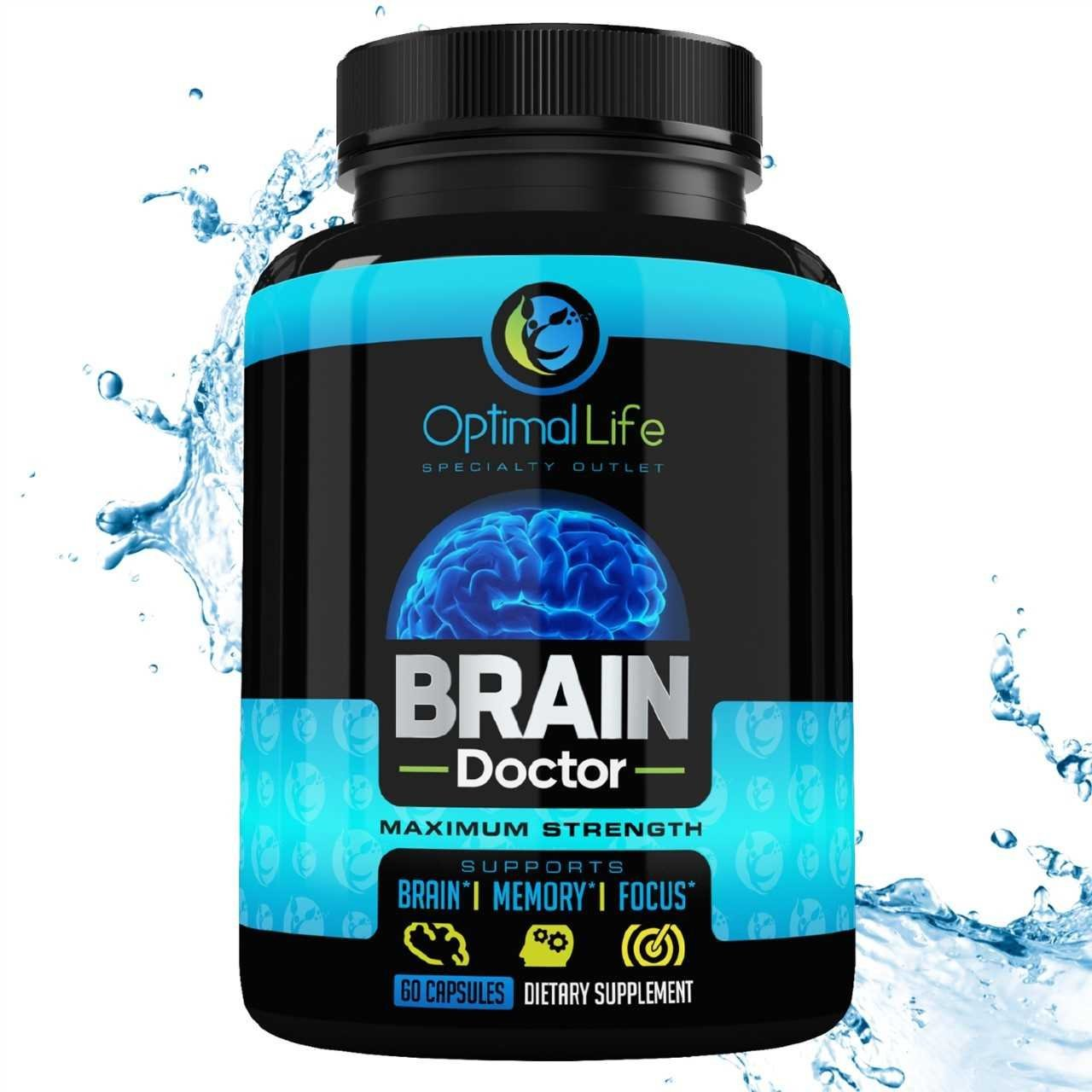 Bacopa Monnieri Capsules Brain Booster Smart Pill for Adults Increase Clarity & Energy - Healthy Extract All Natural - Enhance Mood & Awake Mind W/DMAE by Optimal Life Specialty Outlet