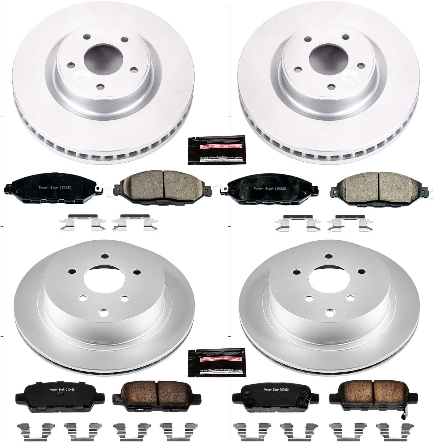 Power Stop CRK5801 front and rear Z23 Evolution Geomet Coated Brake Kit