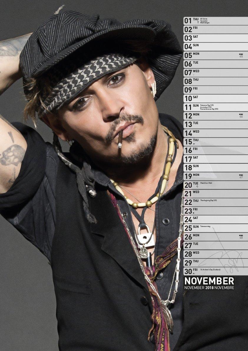 se connecter liquidation à chaud prix de la rue Johnny Depp 2018 Calendar: Amazon.co.uk: Johnny Depp ...