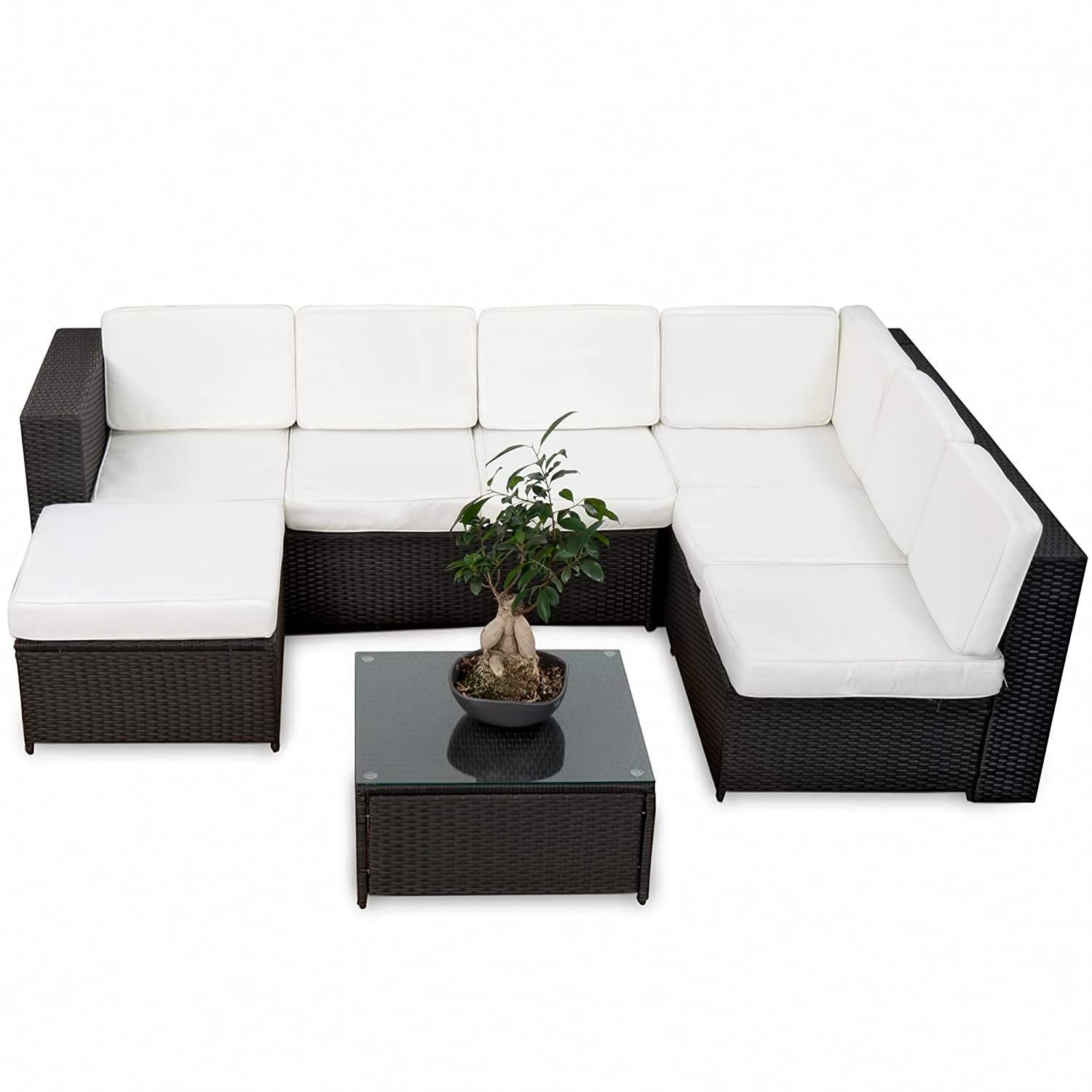 20tlg deluxe lounge garnitur set gruppe polyrattan sitzgruppe gartenm bel loungem bel. Black Bedroom Furniture Sets. Home Design Ideas