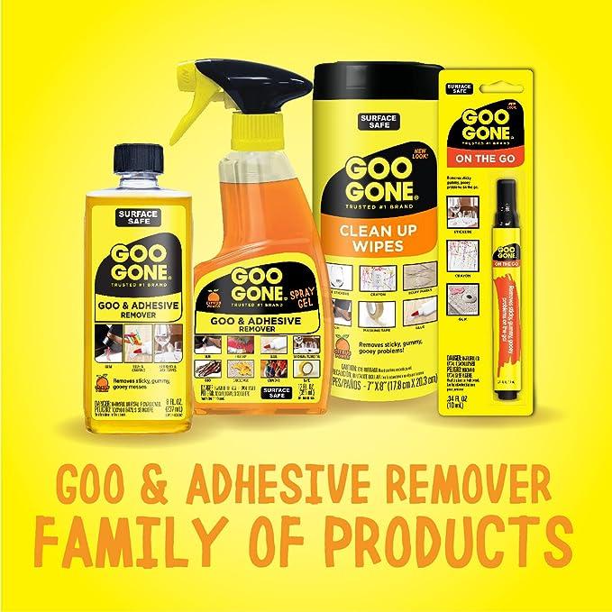 Goo Gone Original Liquid - 2 unidades - 8 onzas - superficie seguro adhesivo removedor de forma segura elimina pegatinas etiquetas adhesivos adhesivos cinta ...