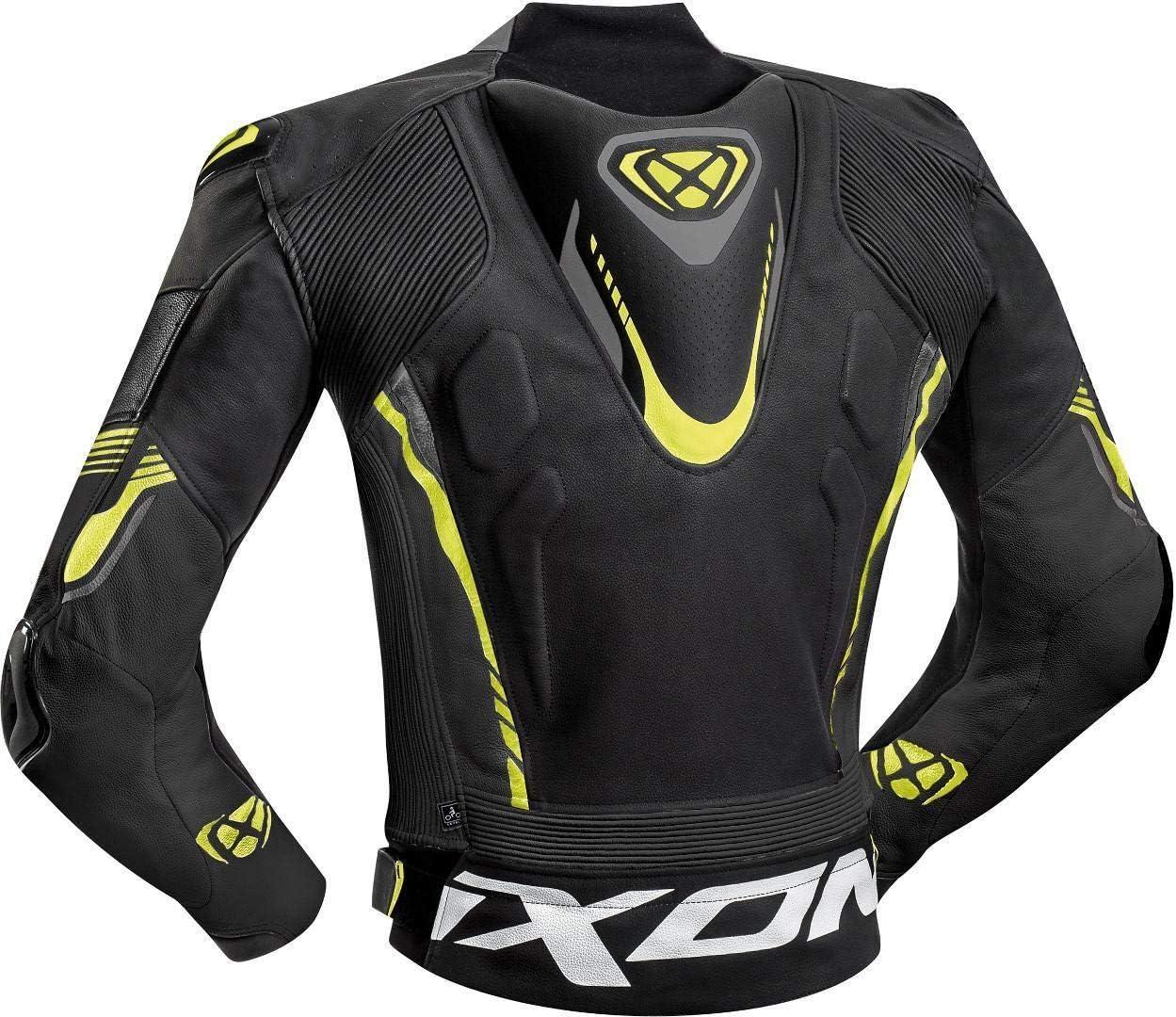 Ixon Giacca da moto Vortex 2 Jkt nero//grigio//giallo fluorescente 3XL