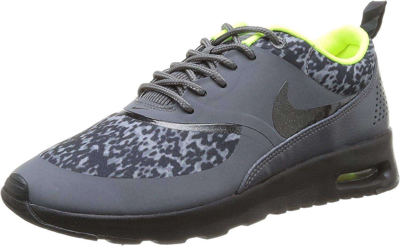 Contaminar Muelle del puente desastre  Amazon.com   Nike Air Max Thea Print Women's Running Shoes Size US 9.5,  Regular Width, Color Dark Grey/Black/Volt   Road Running