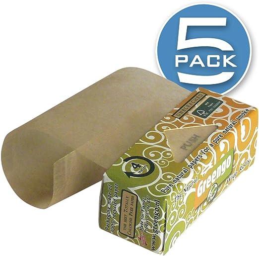 GreenGo – Rollos de papel de liar Natural ancho [mm], auténtica no blanqueado sin cloro 100%