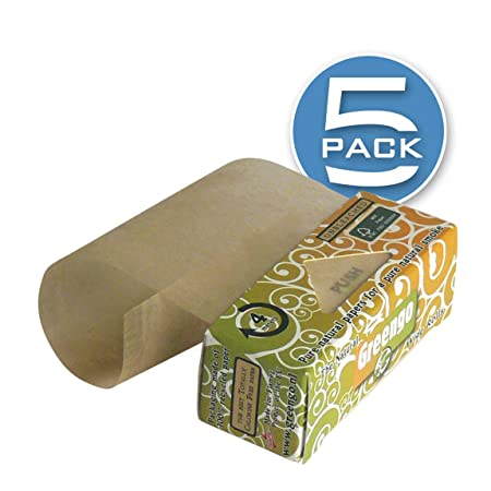 Greengo Natural Rolling Paper Rolls Wide [53mm], Genuine Unbleached