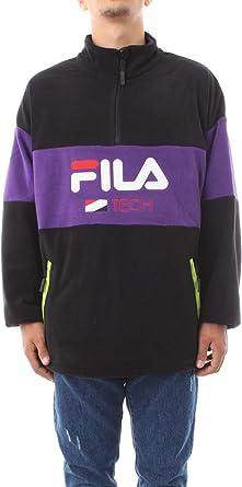 Fila Reijo Fleece Half Zip Sweat Violet Homme | eBay